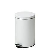 Steel Round Waste Can 13 Quart-3.25 Gallons White
