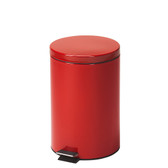 Steel Round Waste Can 20 Quart-5 Gallons Red