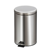 Round Waste Can 20 Quart-5 Gallons Stainless Steel