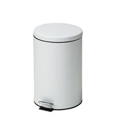 Steel Round Waste Can 20 Quart-5 Gallons White