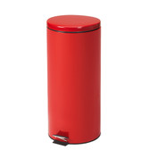 Steel Round Waste Can 32 Quart-8 Gallons Red