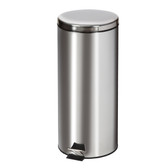 Round Waste Can 32 Quart-8 Gallons Stainless Steel