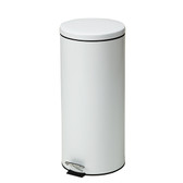Steel Round Waste Can 32 Quart-8 Gallons White