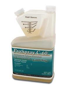 Certol ProSpray C-60 Concentrated Surface Disinfectant/Cleaner 32 Oz Bottle