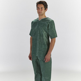 Graham Medical Disposable Scrubs Shirt Forest Green