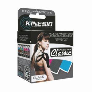 "Kinesio Tape Tex Classic 2"" x 4.4 Yards Black"