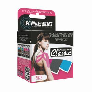 "Kinesio Tape Tex Classic 2"" x 34 Yards Red Bulk"