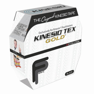 "Kinesio Tape Tex Gold FP 2"" x 34 Yards Black Bulk"