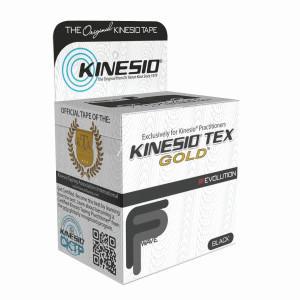 "Kinesio Tape Tex Gold FP 2"" x 5.5 Yards Black"