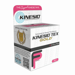 "Kinesio Tape Tex Gold FP 2"" x 5.5 Yards Red"