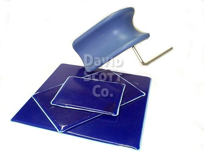 Gel Knee Crutch Pad with Blue Diamond Gel