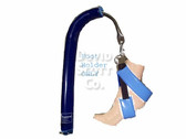 Candy Cane Gel Foot Straps for Candy Cane Stirrups Blue Diamond Gel