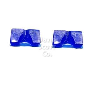 Gel Heel Cups Pair Blue Diamond Gel