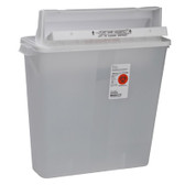 SharpSafety In Room Sharps Containers with Counter Balanced Lid 4 Gallons