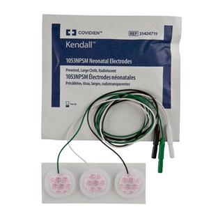 Covidien 1053NPSM  Neonatal Cloth ECG Electrodes Radiolucent-Large