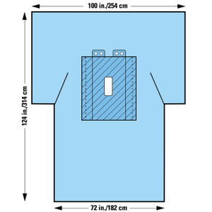 Halyard Health Laparotomy Surgical Drapes with Troughs