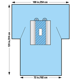 Halyard Health Laparotomy Surgical Drapes with Pouches