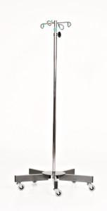 Chrome 5-leg IV Pole