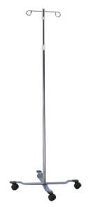 Economy IV Pole 4 Leg Base with 2 Hooks