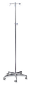 """IV Pole with 25"""" Aluminum 5 Leg Base"""