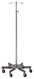 IV Pole/Infusion Pump Stand with 6 Leg Oversized Base