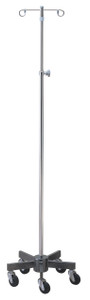 IV Pole/Infusion Pump Stand with 5 Leg Space Saver Base