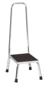 Chrome Step Stool with Handrail