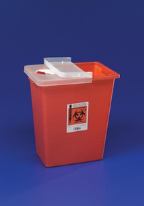 Covidien Sharps Container with Hinged Lid