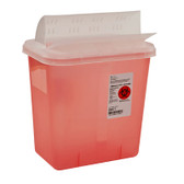 Covidien SharpSafety 2 Gal Sharps Container Horizontal-Drop Opening Lid