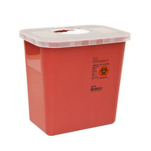 SharpSafety Multi-Purpose Sharps Container with Rotor Lid