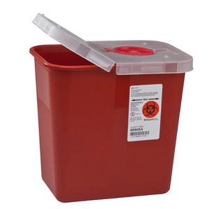 SharpSafety Multi-Purpose Sharps Container with Hinged Lid