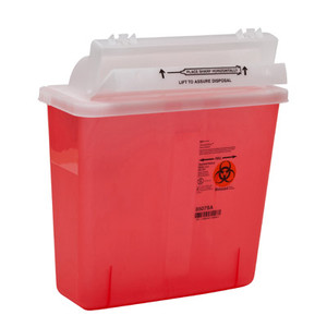 SharpStar In-Room Sharps Containers Counter Balanced Lids