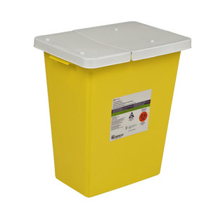 ChemoSafety Chemotherapy Waste Containers Sliding / Hinged Lid