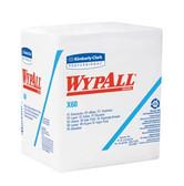 Kimberly-Clark WypAll X60 Wiper 1/4 Fold White