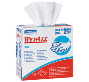 "Kimberly-Clark WypAll X60 Wiper Pop-Up Box 9""x16"""
