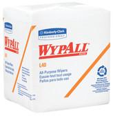 "Kimberly-Clark WypAll L40 Wipers 12""x12"" 1/4 Fold"