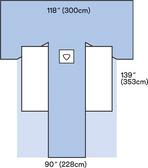 3M Steri-Drape Adhesive Split Sheet, 9055, 300 cm x 353 cm
