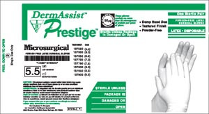 Latex Surgical Gloves-DermAssist Prestige Microsurgical
