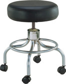Wheeled Round Stool with Adjustable-Height