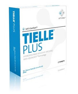 """TIELLE Plus Hydropolymer Adhesive Wound Dressing 5⅞"""" x 5⅞"""""""