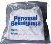 "Personal Belongings Bag with Drawstring 17""x20"" Clear"