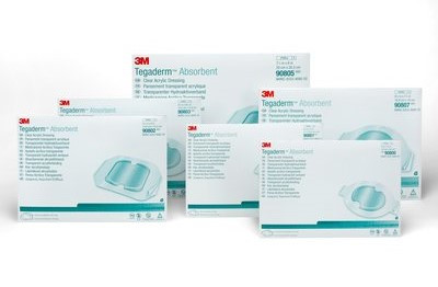 3M Tegaderm Absorbent Clear Acrylic Wound Dressing