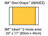 3M Ioban 2 Antimicrobial Incise Drape 6650EZ