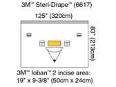 3M Steri-Drape Isolation Drape with Ioban 2 Incise Film Pouch 6617