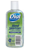 Dial Instant Hand Sanitizer with Moisturizers Fragrance Free-4 Ounce Bottle