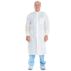 Halyard Health BASIC Plus Lab Coat Knit Collar