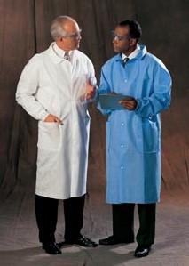 Halyard Health Universal Precautions Lab Coat in Blue