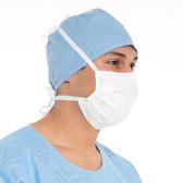 Halyard Health Surgical Mask So Soft Pleat-Style Ties