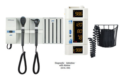 ADC Adstation Wall System LED Otoscope LED Coax Ophthalmoscope 5610L