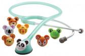 ADC Adimals 618 Platinum Pediatric Stethoscope Animal Face Snap-Ons